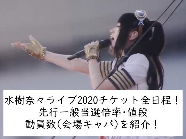 水樹奈々ライブ2020チケット全日程!先行一般当選倍率・値段動員数(会場キャパ)を紹介!