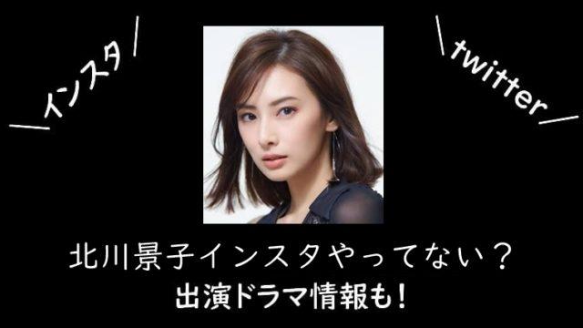 北川景子はインスタやってない?出演ドラマ情報