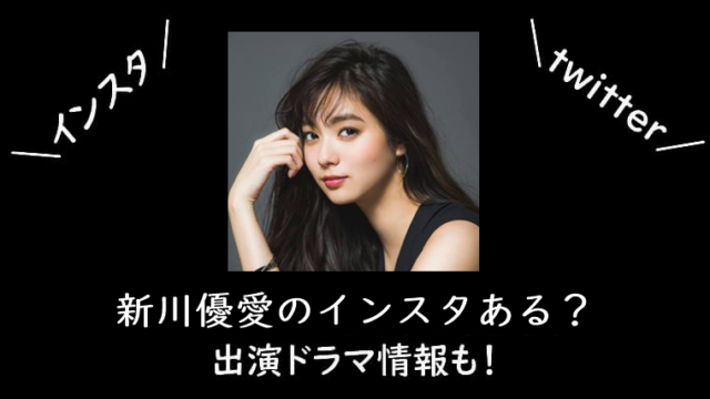 新川優愛のインスタ公式はある?出演ドラマ情報