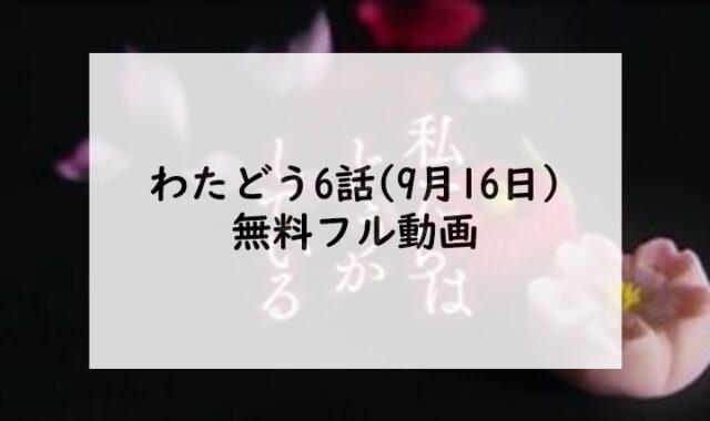 わたどう6話(9月16日)無料フル動画は9tsuやPandoraの代わりのサイトはある?
